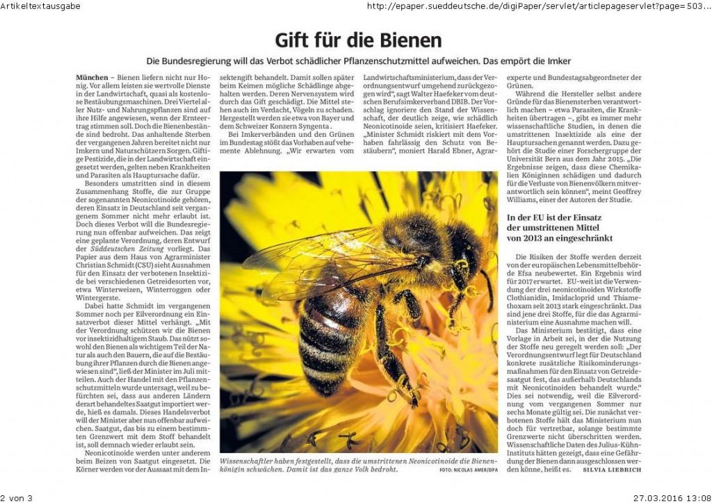 SZ 26.03.16 Gift fürdie Bienen
